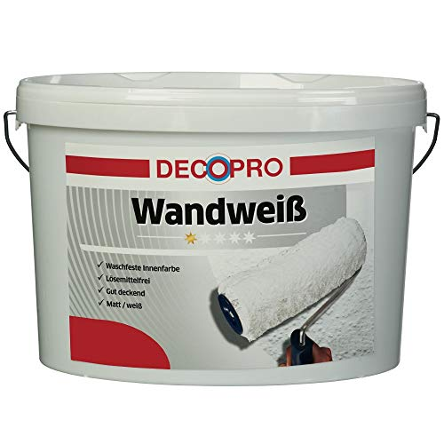 günstig DecoPro Paint White 5 Liter Matte Matte |  Weiße Wandfarbe Vergleich im Deutschland