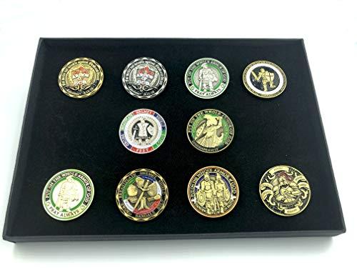 10-Pack-Kollektion Legen Sie die vollständige Rüstung Gottes Freimaurer Mason Cosplay Metal Pin Badge Brosche in Geschenk Box