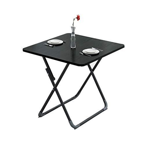 Table pliante, plateau de télévision et table à manger Home Petit appartement Table carrée Petite table Table de collations, 60/70 / 80cm (Color : Black, Size : 60×60cm)