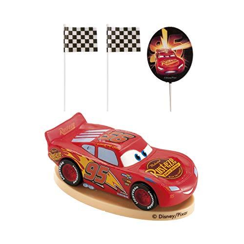 Dekora-303009 Decoracion para Tartas con la Figura de Rayo McQueen de PVC de la Peliculas Cars, Multicolor (303009)