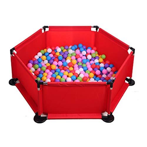 Piscine De Balle pour Enfants pour Enfants Barrière De Jeu Salle De Jouets Couverte Parc À Bébé Jeux pour Enfants À Domicile avec 100 Balles (Color : Red, Size : 127x127x42cm)