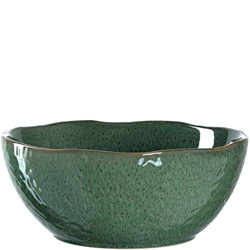 Leonardo Matera Keramik-Schale, 1 Stück, spülmaschinengeeignete Salat-Schüssel, 1 runde Schale aus Steingut, grün, Ø 23,5 cm, 2600 ml, 018585