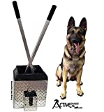 ActiveDogs Best Ever Dog Poop Scooper Bucket - All Aluminum Design Heavy Duty & Durable Waste Removal Shovel Scoop Tool - Built to Last - Made in The USA (Disposal Bucket)