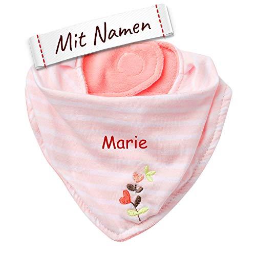 Fehn Blume Baby-Halstuch, Garden Dreams, Jersey Dreieckstuch mit Klettverschluss, Babys von 0-12 Monaten