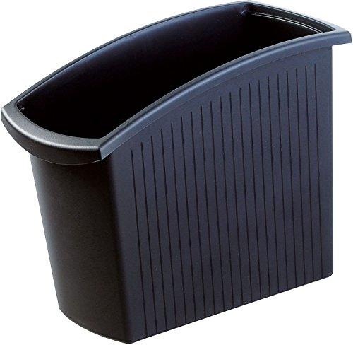 HAN Papierkorb MONDO 1840-13 in Schwarz / Schlanker Mülleimer mit 18 Liter Fassungsvermögen / Ideal für unter den Schreibtisch