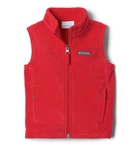 Columbia Boys Steens Mt Soft Fleece Vest, Mountain Red, Small