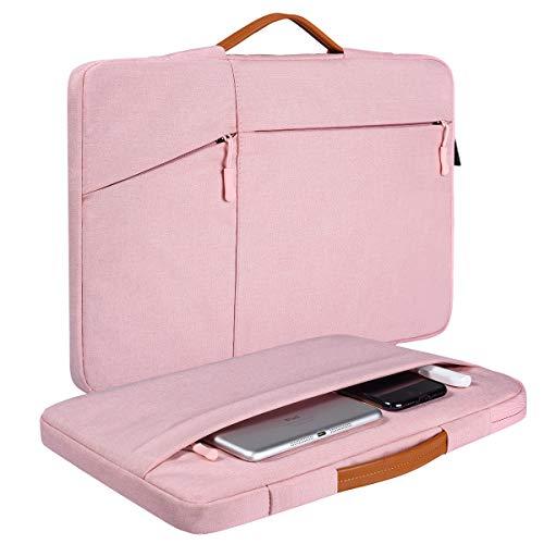 15.6 Inch Laptop Case for Women, Chromebook Sleeve for Acer Chromebook 15, Dell Inspiron 15 3000 5000, Asus Vivobook, HP Pavilion and Dell Asus Lenovo Samsung Laptop Chromebook Case(Pink)