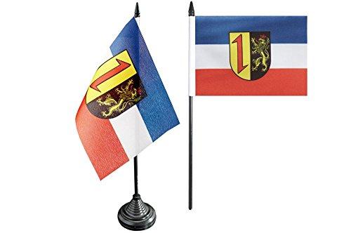 Flaggenfritze® Tischflagge Deutschland Stadt Mannheim - 10 x 15 cm