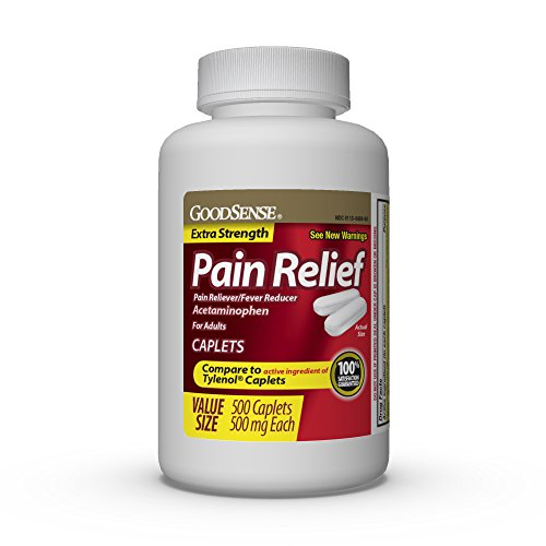 GoodSense Extra Strength Pain Relief, Acetaminophen Caplets, 500 mg, 500 Count