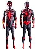 CXYGZLJ Body de superhéroes Miles Morales, Spider-Men Cosplay Traje Lycra Traje de Halloween, Estéreo 3D Mascarilla Roja (Niño Adulto),Kids XL