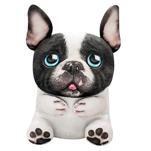 Wild Alive 12'' Photo Real Snuggly Stuffed Animal -- Lucy French Bulldog (WA01419-0004)