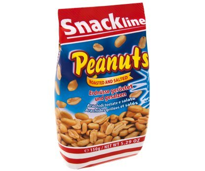 Erdnüsse geröstet und gesalzen im 150g Beutel von Snackline