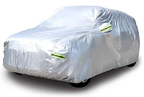 AmazonBasics - Telo copriauto argentato, resistente alle intemperie - in tessuto Oxford 150D, per SUV fino a 515cm