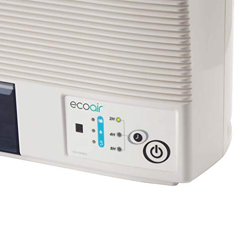 EcoAir DCW10 Wall Mounted/Freestanding Dehumidifier with Charcoal Filter and Remote Control, 10 L