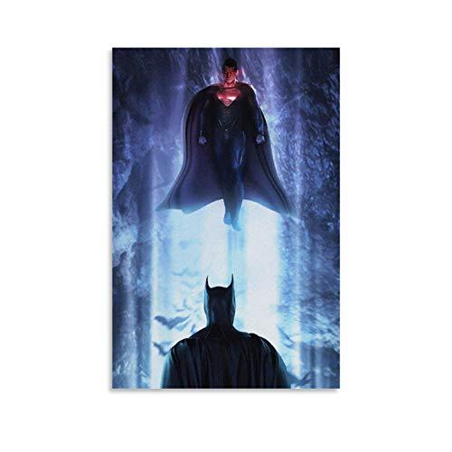 SSKJTC House Decorations Wohnzimmer-Poster Batman vs Superman, Comic-Dekoration, modernes Kunstwerk für Wände (40 x 60...