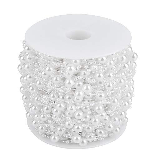 60 m/rol parels hoofdtooi parels bruiloft slinger faux parels parels voor huwelijksfeest bruiloft hanger decoratie wit