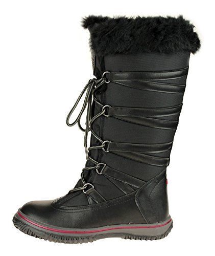 PAJAR Grip Star Women's Zipped Snow Boots (41 EU/9.5 US, Black)