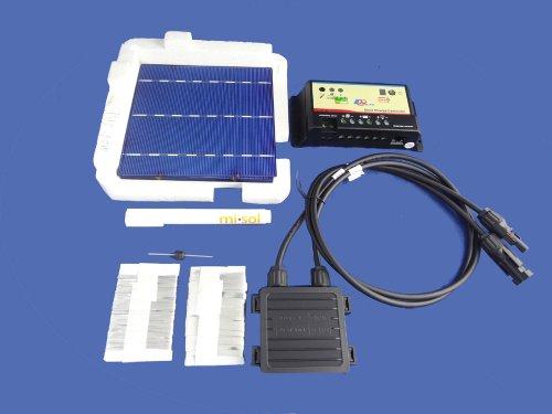 MISOL 40 pcs POLY 6x6 solar cells DIY kit for solar panel, flux pen, diode bus tabbing/Células solares 6x6 POLY kit DIY para el panel solar, pluma flujo, tabulación bus de diodos