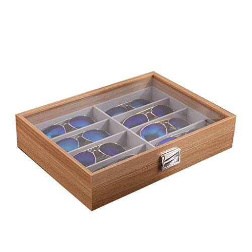 Gläser Aufbewahrungsbox Holz Aufbewahrungsbox Display Brillenbox Schmuckschatulle Einfache Finishing Box