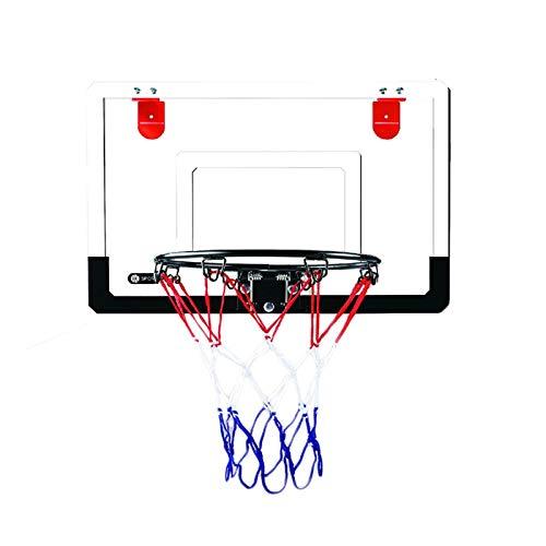 LUYJKL Family Gáme - Tablero de baloncesto transparente para adolescentes y adolescentes con ganchos para puerta, para Active Pláy, blanco S (color con bola de 22 cm)