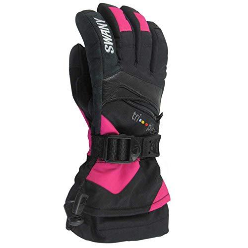 Swany SX-80J Junior's X-Change Jr Handschuhe, Schwarz/Magenta, Größe S