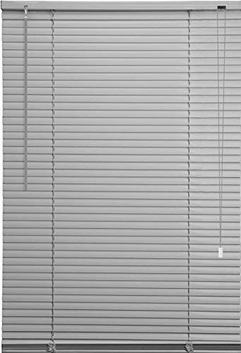 Ruby Deals PVC Window Venetian Blind Blinds Easy Fit Curtains Trimmable Fittings Windows Treatment Shutters Twist Open Close (Grey-PVC, 45cm wide (17.7'') x 150cm)