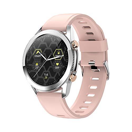 FMSBSC Reloj Inteligente Mujer Hombre Smartwatch Llamadas Bluetooth Deportivo Rastreador Actividad Reloj Inteligente Pantalla Táctil Completa IP67 Impermeable Compatible con Android iOS,Rosado