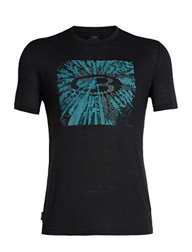 Icebreaker Herren Merino T-Shirt Spector Tree Top Logo, Black, L, 104597