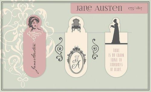 moses. 82755 Magnetlesezeichen Jane Austen 3er Set, magnetisches Lesezeichen, charmant illustriert