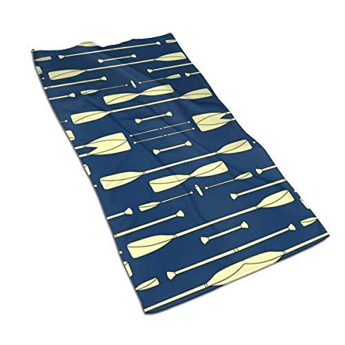 Lsjuee Rowing Oars - Toalla de Cocina Color Crema y Azul Marino, 27,5 x 15,7 Pulgadas, Toalla de té Decorativa para cocinar y Hornear Todos los días, Berenjena