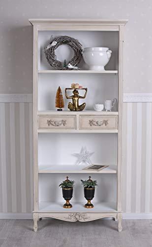 PALAZZO INT Nostalgie Regal Büroschrank Landhausstil Schrank Antiklook Bücherregal Büroregal HMD301
