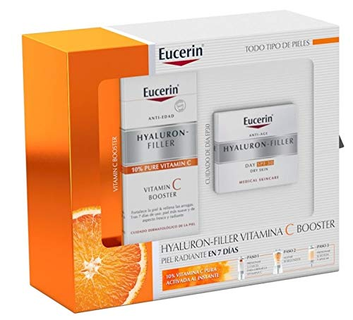 Pack Eucerin Hyaluron Filler Día FPS30 50ml + Vitamin C Booster 8ml