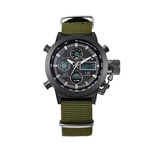 SFACN North Mascule Moda Nylon Strap Calendar Pantalla Sport Smart Digital Cuartz Watch (Color : Negro)