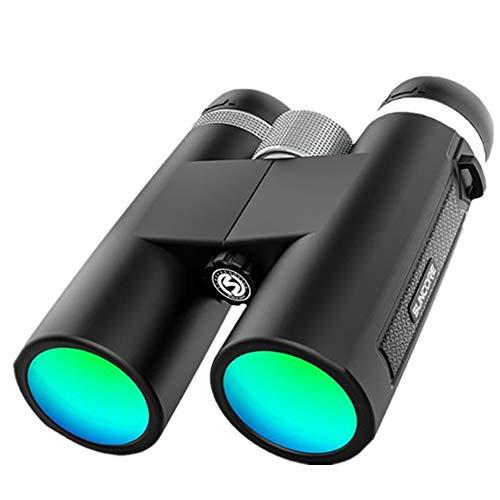 LYXLQ 12X42 telescopio binoculares, prismáticos portátil Compacto para Adultos más Potente, de Alta definición Grande Double Barrel, Conveniente para Hacer Turismo/Viajes/Caza/Disparos