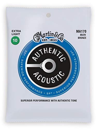 3er Pack Martin Western-Gitarren Saiten MA-170 Extra light .010-.047