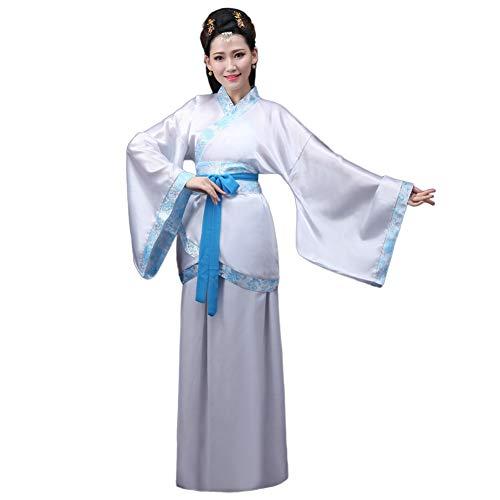 Xinvivion Chino Hanfu - Antiguo Tradicional Traje Tang Falda de Hada Costume Rendimiento Etapa Vestido para Mujer