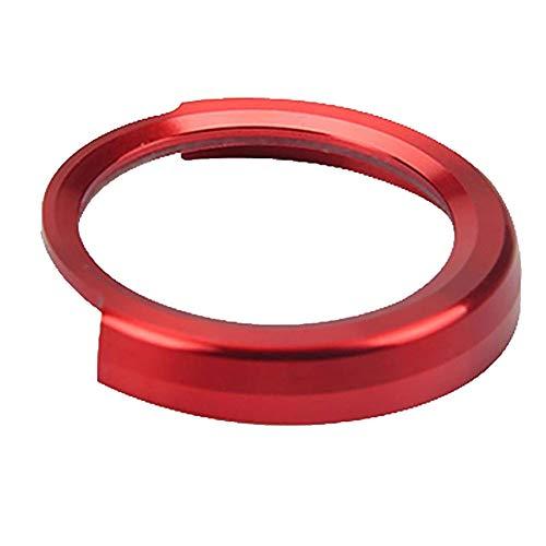 Preisvergleich Produktbild ZqiroLt Ein-Schlüssel-Startknopf-Dekor-Ring,  Metallautokreis für BMW 1 / 2 / 3 / 3GT / 4 / X1-Serie Red