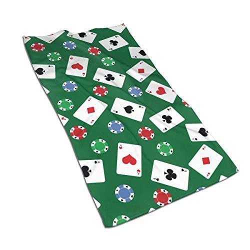 VLOOQ-HX Toallas de Mano de Fibra extrafina de Poker Toalla de Playa Ultra Suave Toalla de baño para Piscina para niños, niños, niñas y Adultos