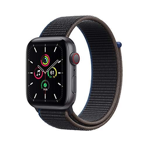 AppleWatch SE (GPS+ Cellular, 44mm) Aluminiumgehäuse Space Grau, Sport Loop Kohlegrau