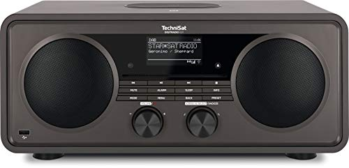 TechniSat DIGITRADIO 631 - Stereo Internetradio (DAB, UKW, 70 Watt 2.1 System m. Subwoofer, CD, USB, Bluetooth-Streaming, AUX, WLAN, Wecker, Spotify Connect, Alexa Steuerung, Fernbedienung) anthrazit