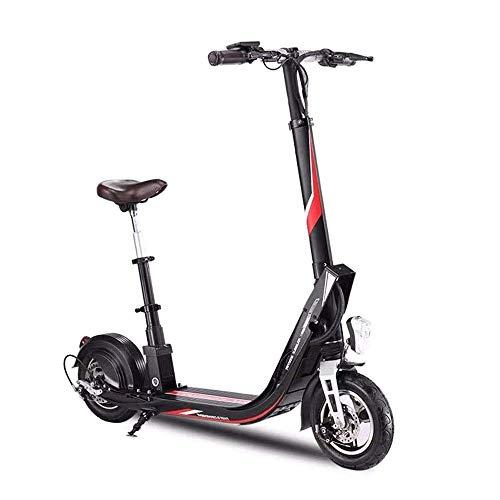 FUJGYLGL Portable Adulto del Scooter eléctrico, Cuerpo de aleación de Aluminio, Plegable, batería de Litio de Gran Capacidad, Alta Potencia del Motor, Velocidad rápida, Freno de Disco