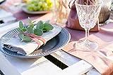 100%Mosel Tischläufer Samt, in Altrosa (28 cm x 5 m),Tischband aus Polyester in Matter Samt-Optik, edle Tischdeko für den Herbst & Winter, Dekoration zu besonderen Anlässen - 4