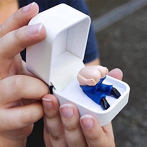 Divertidas bromas, regalo de parodia de pedos en caja de anillo, para día de San Valentín, cumpleaños, regalos de broma, regalo de sorpresa para fiestas navideñas. Se pedos cuando lo abres
