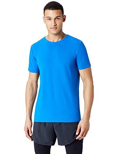 Amazon-Marke: find. Sport Top T-Shirt Herren, Blau (Imperial Blue), L, Label: L