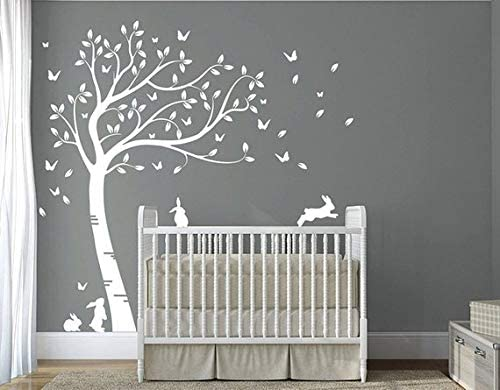 DesignDivil's Full Size Beautiful Max 58% OFF Bunny Roo Rabbits Tree Manufacturer direct delivery Nursery