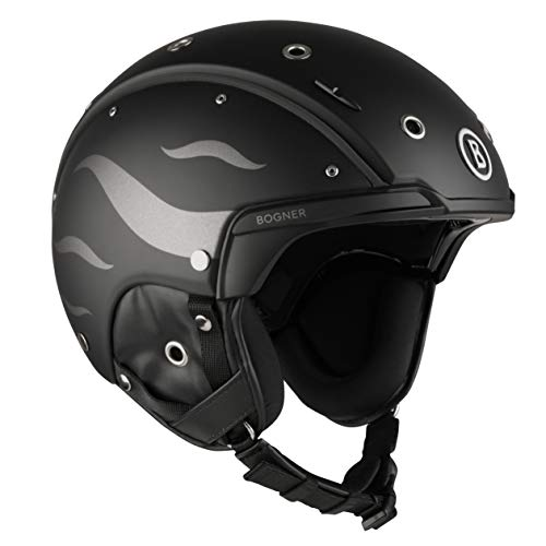 Bogner Ski-Helm B-Flames | Black | Ski & Snowboard | Hochwertige Qualität (Größe: S - Kopfumfang 52-54cm)