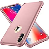 iPhone X Case,iPhone Xs Case with [2 x Tempered Glass