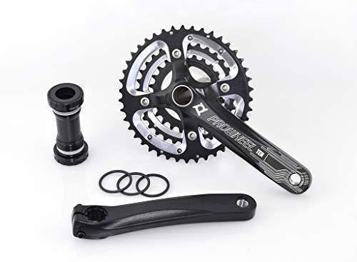 PROWHEEL - 15405 : Platos y bielas BTT MTB paseo 3x10 170mm 42/32/24 dientes bici bicicleta