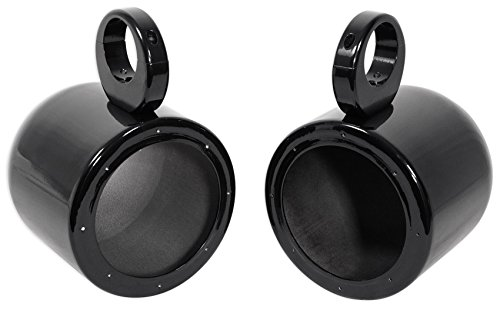 "Pair Rockville MAC65B 6.5"" Black Aluminum Wakeboard Tower Speaker Pod Enclosures"