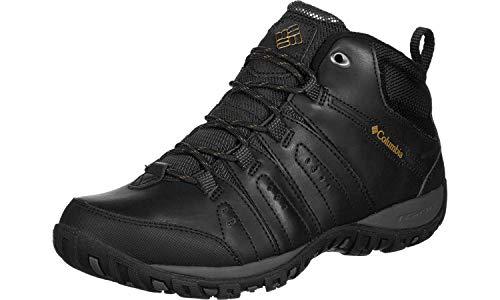 Columbia Woodburn II Chukka Waterproof Omni-Heat, Zapatos Hombre, Negro (Black, Goldenrod), 42 EU